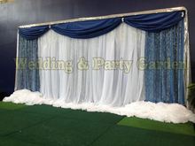 6m/20ft (w) x 3m/10ft (h) royal blue Wedding Background backdrops Wedding backdrop curtain wedding supply()