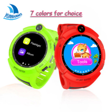 7 Colors Smart GPS LBS Tracker Locator SOS Remote Camera Monitor Anti-Lost Kid Student Phone Watch WristWatch Touch Round Screen