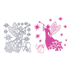Angel and Horn Set  Metal Stencil Embossing Cutting Dies 3D DIY Scrapbooking Craft Photo Invitation Cards Decoration 110*120mm