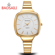 BSL1028 BAOSAILI Classic Quality Alloy Super Thin Fashion Women Wrist Watch Lady Dress Quartz Watches Japan Movt Waterproof Life(China)
