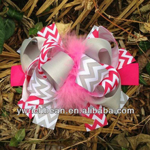 new boutique kids big decorations for hair of grosgrain ribbon bows with clips for girls hairbows hairpins accessories yiwu