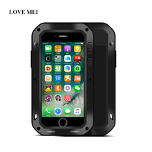 LOVE MEI Brand Metal Case For Apple iPhone 7 Plus Powerful Shockproof Life Waterproof Aluminum Cover For iphone 7plus 5.5 inch(China)