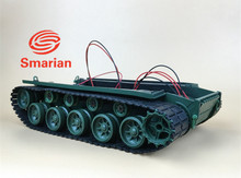 Official smarian robot tank chassis tracked vehicle with suspension damping economy for Arduino Diy Tracked Crawler Caterpillar