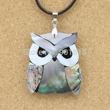 1Pc Lovely Owl Abalone Shell Pendant Necklace Jewelry Making DIY Findings Animal Pendant Tray Drop F1117