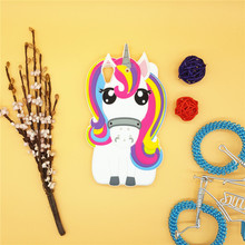3D Cartoon Rainbow Unicorn Case Soft Silicon White Horse Cover for HTC Desire 626 626W 626D 626G 626S Rubber Shell
