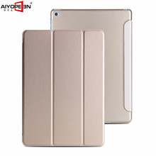 for apple ipad mini 4 case pu leather smart wake up sleep with matte transaprent pc back cover ultra slim flip stand
