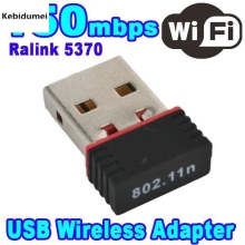Kebidumei Mini 150M 150Mbps USB WiFi Receiver Wireless Network Card LAN Adapter for Computer PC for Mac Win XP/Vista/7/8