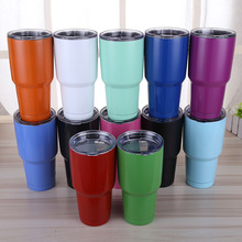 10PCS Modern Tumbler Vacuum Cup Insulated 30OZ Thermos Cup with Lid Stainless Steel Travel Mug as Sweet Coffee Cup,Tea/Car Cups
