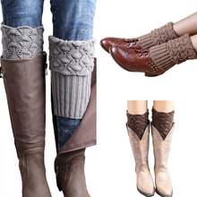 Hot Sale New Women Ladies Crochet Knitted Shell Design Boot Cuffs Toppers Knit Leg Warmers Winter Short Liner Boot Socks(China)