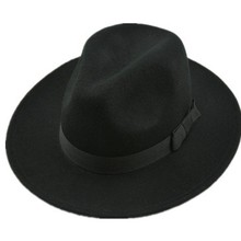 Free DHL EMS Shipping Authentic Wool Fedoras (12 pieces/lot)Women Men Wide Brim Jazz Fashion hats Dance Advertising Caps Fedoras
