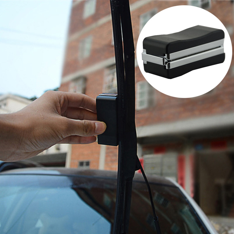 Universal Auto Car Vehicle Black Windshield Wiper Blade Refurbish Repair Tool Restorer Windshield Scratch Repair Kit Cleaner(China)