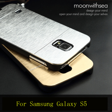 Deluxe Aluminum Frame Case For Galaxy S5 Acrylic Metal Rim And Hard PC Slim Back Cover Bags Ultra Thin Cool For Samsung I9600