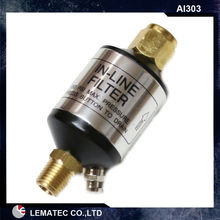 LEMATEC Mini In line Air Filter Water Separator Aluminum Body Oil / Water Separator Filter Air Accessory