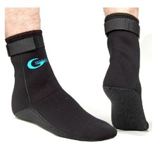Free Shipping 3mm neoprene black  Diving Socks for fin/beach wear