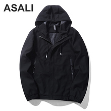 ASALI 2017 New Fashion High Quality Jacket Men Spring Autumn Zipper Men's Coat Casual Men's Outerwear J73(China)