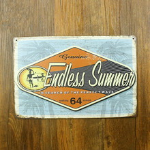 Endless Summer In Search Of The Perfect Wave Vintage Home Decor Shabby Chic Tin Sign For Home Bar Dinning Wall Decor