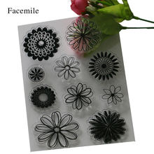 1PCS Scrapbook DIY Photo Cards Rubber Stamp Clear Stamp Transparent Stamp Flowers Sunflower Decoration Stamp YS005