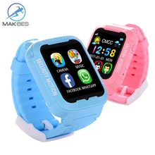 Makibes Kids K3 Security Smart GPS Watch MTK2503 children GPS Tracker GPS AGPS LBS Watch phone with Camera Wearable devices