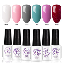 Sexymix 6pcs/lot Nude Pink Color Set LED Nail Gel Professional French Manicure Gel Nail Polish Set Manicure UV Gel Varnishes Kit