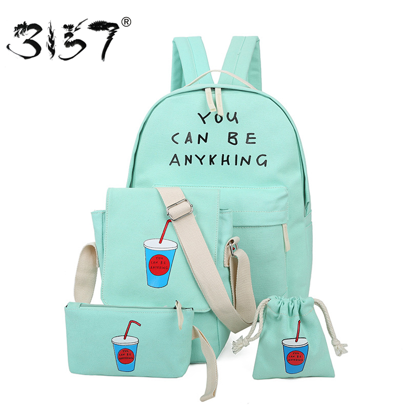 fashion canvas women backpack letter female school bags for teenage girls small coke feminine backpack 3157 sac a dos femme<br><br>Aliexpress
