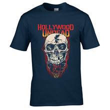 Men Shirt Printed Summer T-shirt Hollywood Undead Day Of The Dead high quality men t shirts Bodybuilding Fitness Baumwollhemd(China)