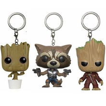 Marvel Guardians of the Galaxy 2 Bobble Head Keychain Toy Tree man Rocket Star Lord Wonder Woman Doctor Strange Minion Toy Doll