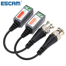 Twisted CCTV Video Balun Passive Transceivers 2000ft Distance UTP Balun BNC Cable CAT5 Cable(China)