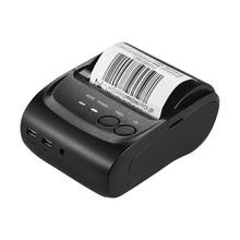 High Speed Portale Mini Printer 58mm Bluetooth Thermal Printer Receipt Printer Post Barcode Printer for Android iOS Windows