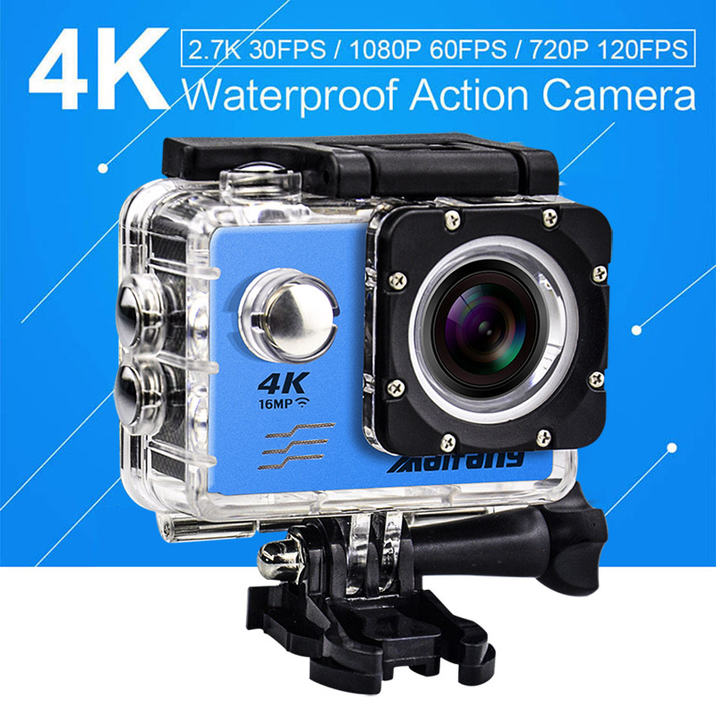 4k 30PFS 16MP Camera 4 K WIFI 2 LCD Screen 1080P 60PFS maifang Waterproof GO remote Cam deportiva pro Underwater Action Camera<br>