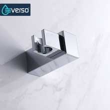 EVERSO Brass Wall Mounted Shower Holder Handhold Shower Bracket Shower Head Holder Shower Fittings Square Shape(China)