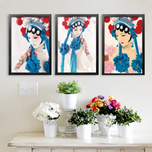 modern chinese culture painting traditional chinese drama Peking opera painting for room wall art picture painting YT0010(China)