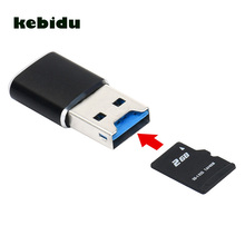 kebidu 5Gbps Smart Micro SD Card Reader Super Micro SD/SDXC TF Speed USB 3.0 Card Reader Adapter micro sd adapter for PC LAPTOP(China)