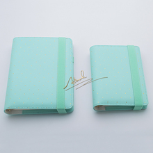 Free shipping new A5 A6 notebook planner agenda diary kawaii DIY stationery Mint color gold ring office supplies Wholesale price(Bhutan)