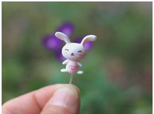 Pins used for fixed mini figure gifts doll resin miniature figurines Toys 1.4cm PVC plactic japanese cute anime160334(China)