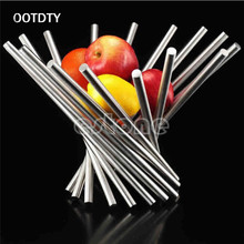 OOTDTY Sell Good Full Stainless Steel Vortex Fruit Rack Tray Holder Bowl Basket Decor Kitchen Tools(China)