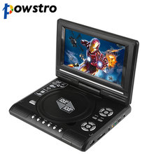 "7.8"" LCD Display DVD Player 270 Degree Portable TV Game Player with USB/SD Card Reader Car Charger FM MP3 MP4 Head-phone Output(China)"