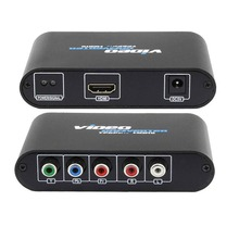 5 RCA YPbPr для HDMI конвертер PS2 Xbox Wii к HDMI HDTV Видео Аудио разъем адаптера с USB Мощность кабель(China)