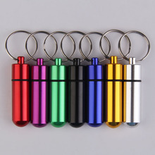 Aluminum Alloy Pill Box Container For Medicines Pill Case Pillbox Outdoor Mini Gallipot Cartridge Keychain