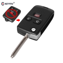 KEYYOU 3 Buttons Folding Car Remote Flip Key Shell Fob For Ford 2001-2011 Mercury Switchblade Modify Case Cover(China)