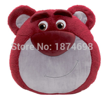 Toy Story Lots O Lotso Huggin Bear Face Cushion Pillow Cute Soft Kids Stuffed Animals Toys Children Gifts 35*40cm