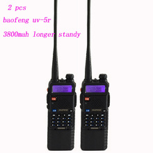 2PCS Two Way Radio Walkie Talkie Baofeng UV-5R With 3800Mah Long Battery Headset Scanner II dual band walkie talkie Baofeng uv5r(China)