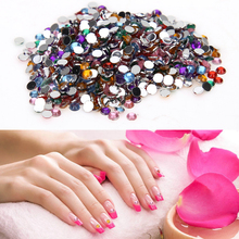 10000pcs Acrylic Nail Art Tips Gems Stickers Shiny 3D Crystal Rhinestones Glitter Jewelry DIY Nail Phone Decoration 3mm Colorful