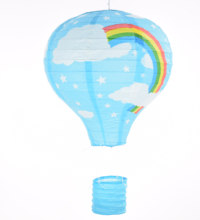 "12"" 5PCS Rainbow Hot Air Balloon light blue Paper Lantern Paper Chinese Wishing Lantern Sky lantern for Birthday Wedding Party(China)"