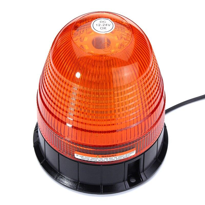 12W LED Flashing Beacon Emergency Warning Lamp LED Strobe Flashing Light Car Vehicle Amber Lamp With Car charger IP65 DC12V-24V<br>