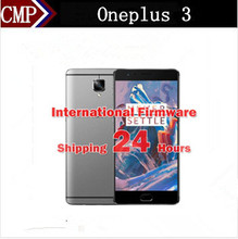 "Global Version Oneplus 3 One Plus Three A3003 4G LTE Mobile Phone Android 6.0 5.5"" FHD 6GB RAM 64GB ROM 16MP Fingerprint NFC(China)"