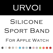URVOI Sport band for apple watch series 3 2 1 with pin-and-tuck closure Silicone strap for iWatch standard colorful replacement(China)