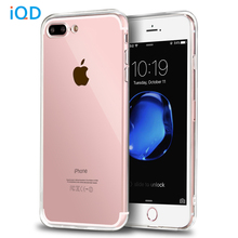 IQD For Apple iPhone 7 7 plus Case Ultra Clear Scratch-resistant Cover Case with Transparent Hard PC Back Plate and Flexible TPU(China)