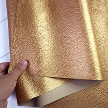golden, Faux leather, PU Leather Fabric Sewing ,artificial leather for diy bag material, sold BY THE YARD, FREE SHIPPING!!!(China)