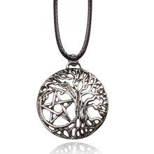 Movie Peripheral Accessories Leather Chain Supernatural Pentacle Pentagram Star Yggdrasil Tree of Life Necklaces & Pendants(China)