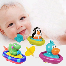 Baby Bath Toys Soft rubber duck  Float Rally floating toys Clockwork Winding sassy  Wash swimming play Toys Animals Toys